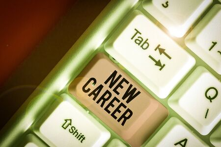 Word writing text New Career. Business photo showcasing a change to a different type of job from the one you have