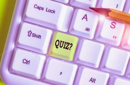 Word writing text Quiz Question. Business photo showcasing test of knowledge as competition between individuals or teams