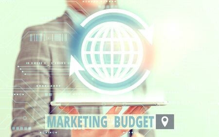 Conceptual hand writing showing Marketing Budget. Concept meaning estimated amount of cost required to promote products Banque d'images - 138333747
