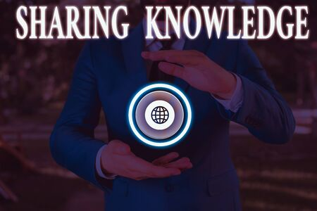 Handwriting text writing Sharing Knowledge. Conceptual photo knowledge is exchanged among showing or organizations