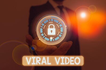 Word writing text Viral Video. Business photo showcasing the video that becomes popular through internet sharing Imagens