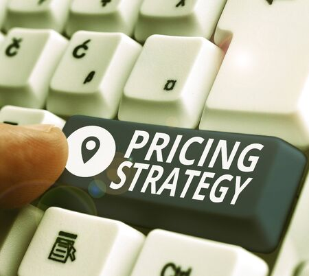 Handwriting text writing Pricing Strategy. Conceptual photo method companies use to price their products or services