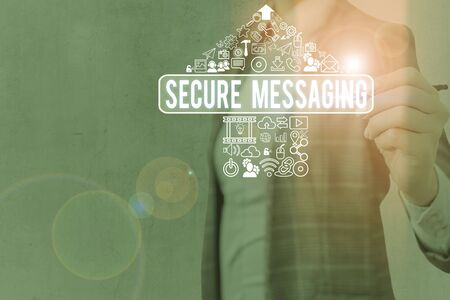 Word writing text Secure Messaging. Business photo showcasing protect critical data when sent beyond the corporate border
