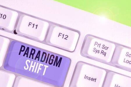 Text sign showing Paradigm Shift. Business photo showcasing fundamental change in approach or underlying assumptions Stock fotó - 138475982