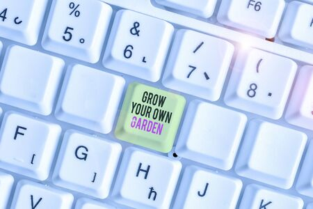 Conceptual hand writing showing Grow Your Own Garden. Concept meaning Organic Gardening collect demonstratingal vegetables fruits