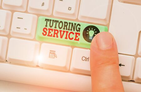Word writing text Tutoring Service. Business photo showcasing the act of teaching or instructing other branch of learning