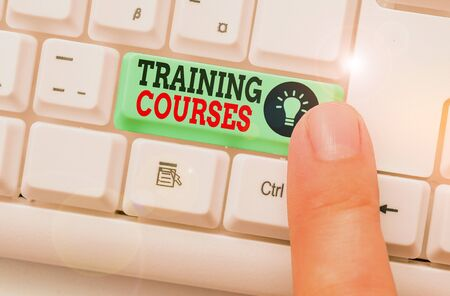 Word writing text Training Courses. Business photo showcasing lessons to teach the skills and knowledge for a job
