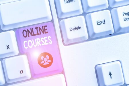 Handwriting text writing Online Courses. Conceptual photo courses deliver a series of lessons to a web browser