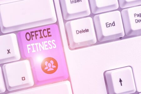 Handwriting text writing Office Fitness. Conceptual photo Encouraging fitness and balance lifestyle in the workplace