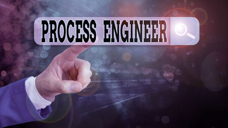 Text sign showing Process Engineer. Business photo showcasing responsible for developing new industrial processes Stock fotó