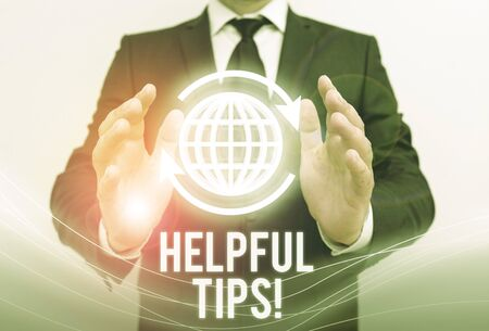 Writing note showing Helpful Tips. Business concept for advices given to be helpful knowledge in life