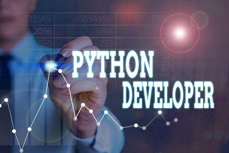 Writing note showing Python Developer. Business concept for responsible for writing serverside web application logic Reklamní fotografie