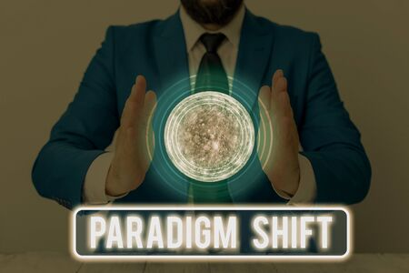Text sign showing Paradigm Shift. Business photo text fundamental change in approach or underlying assumptions