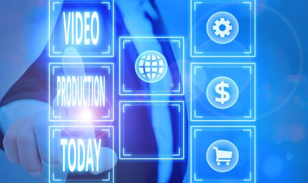 Handwriting text Video Production. Conceptual photo process of converting an idea into a video Filmaking