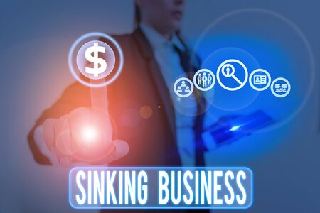 Handwriting text writing Sinking Business. Conceptual photo the company or other organization that is failing