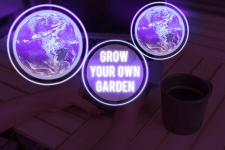 Handwriting text writing Grow Your Own Garden. Conceptual photo Organic Gardening collect demonstratingal vegetables fruits