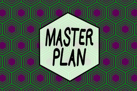 Word writing text Master Plan. Business photo showcasing dynamic longterm planning document Comprehensive plan of action Repeating geometrical rhombus pattern. Seamless abstract design. Wallpaper