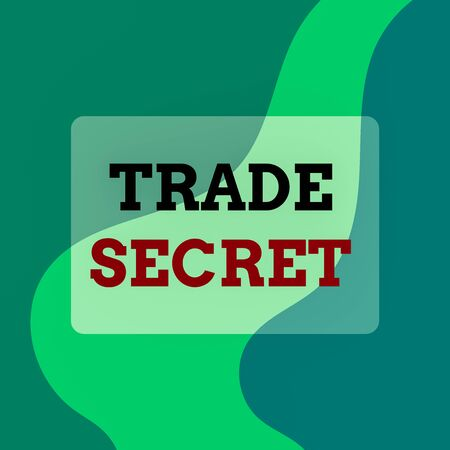 Text sign showing Trade Secret. Business photo showcasing technique used by a company in analysisufacturing its products Square rectangle paper sheet loaded with full creation of pattern theme