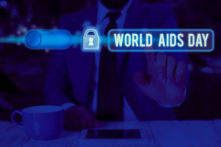 Text sign showing World Aids Day. Business photo text 1st December dedicated to raising awareness of the AIDS