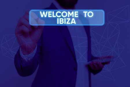 Text sign showing Welcome To Ibiza. Business photo text Warm greetings from one of Balearic Islands of Spain 版權商用圖片