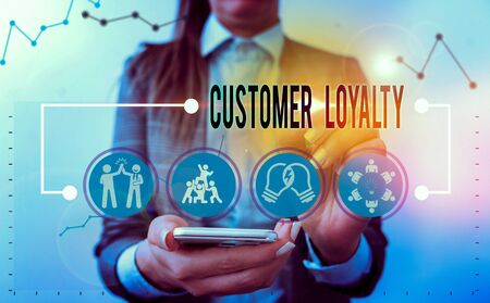 Handwriting text writing Customer Loyalty. Conceptual photo customers are devoted to a company s is products or services