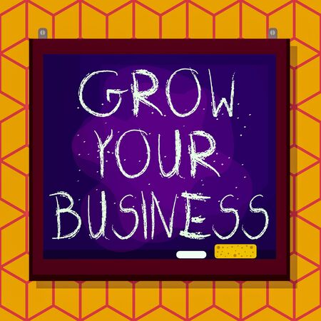 Conceptual hand writing showing Grow Your Business. Concept meaning Achieve higher profit Provide better return of investment Asymmetrical uneven shaped pattern object multicolour design