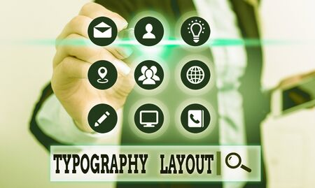 Handwriting text Typography Layout. Conceptual photo theory and practice of letter and typeface design