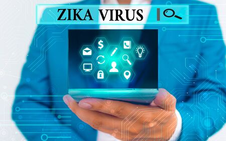 Text sign showing Zika Virus. Business photo text caused by a virus transmitted primarily by Aedes mosquitoes