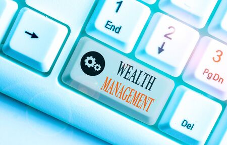 Handwriting text Wealth Management. Conceptual photo perforanalysisce tracking of the funds as per regular market