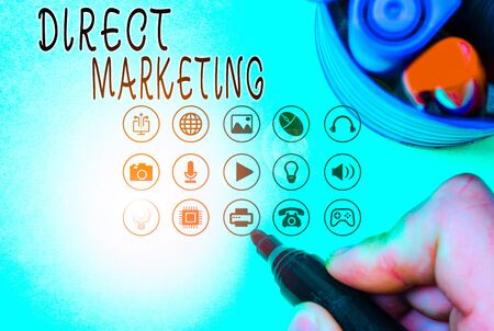 Handwriting text Direct Marketing. Conceptual photo business of selling products directly to the public Stock fotó
