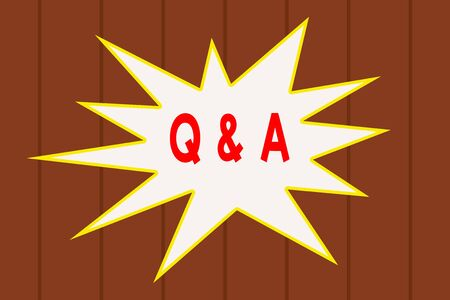 Text sign showing Q And A. Business photo text defined as questions being asked and answers Wooden texture background. Timber wall pattern texture. Abstract Texture