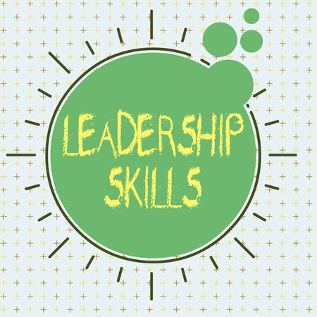 Text sign showing Leadership Skills. Business photo text Skills and qualities that leaders possess Taking a lead Asymmetrical uneven shaped format pattern object outline multicolour design