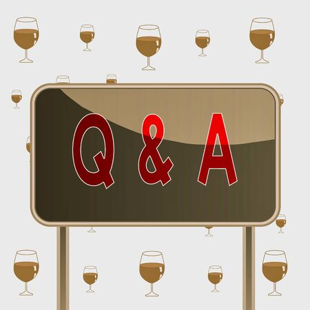 Text sign showing Q And A. Business photo text defined as questions being asked and answers Board ground metallic pole empty panel plank colorful backgound attached Banco de Imagens