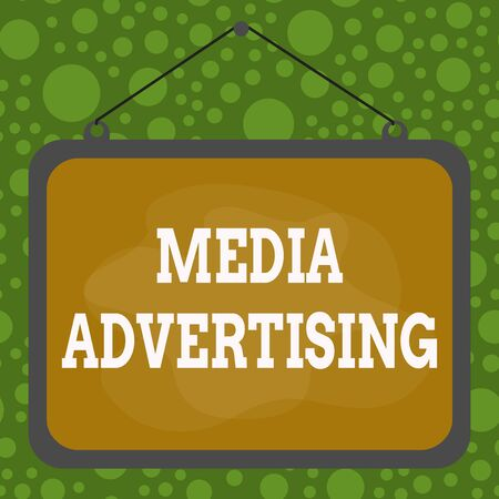 Text sign showing Media Advertising. Business photo text choosing the effective media for an advertising campaign Asymmetrical uneven shaped format pattern object outline multicolour design