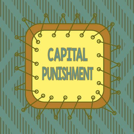 Conceptual hand writing showing Capital Punishment. Concept meaning authorized killing of someone as punishment for a crime Asymmetrical uneven shaped pattern object multicolour design