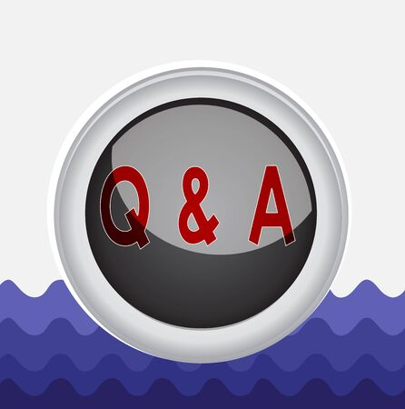 Conceptual hand writing showing Q And A. Concept meaning defined as questions being asked and answers Colored sphere switch center background middle round shaped