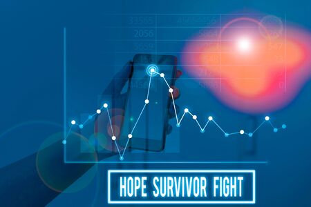 Conceptual hand writing showing Hope Survivor Fight. Concept meaning stand against your illness be fighter stick to dreams