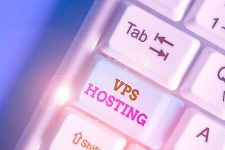 Handwriting text writing Vps Hosting. Conceptual photo mimics a dedicated server within a shared hosting environment