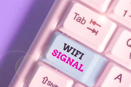 Handwriting text writing Wifi Signal. Conceptual photo provide wireless highspeed Internet and network connections