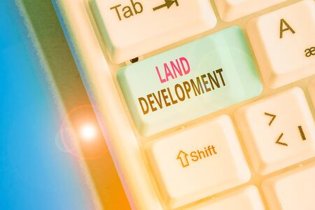 Handwriting text writing Land Development. Conceptual photo process of acquiring land for constructing infrastructures