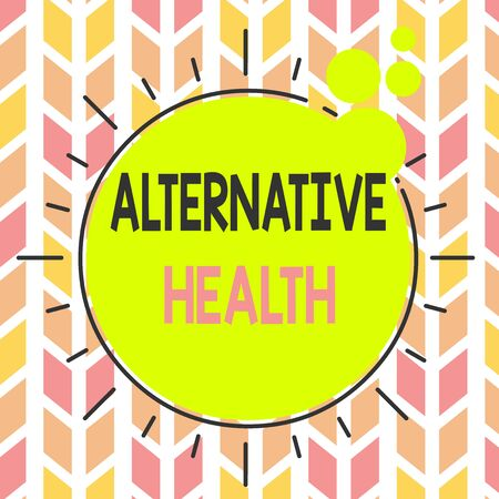 Handwriting text Alternative Health. Conceptual photo products and practices that are not part of standard care Asymmetrical uneven shaped format pattern object outline multicolour design