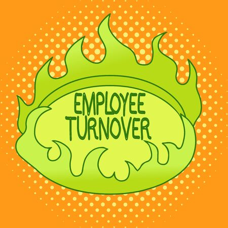 Handwriting text writing Employee Turnover. Conceptual photo the percentage of workers who leave an organization Asymmetrical uneven shaped format pattern object outline multicolour design