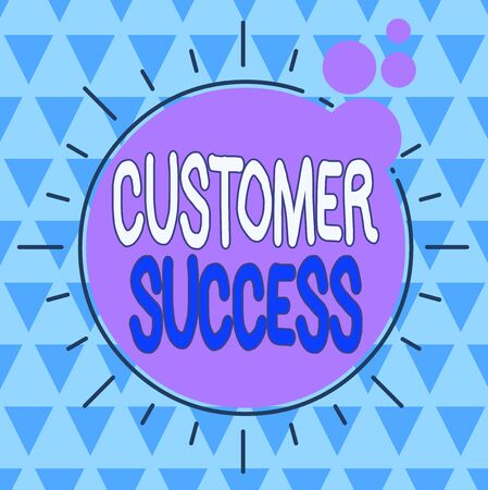 Text sign showing Customer Success. Business photo showcasing customers achieve desired outcomes while using your product Asymmetrical uneven shaped format pattern object outline multicolour design