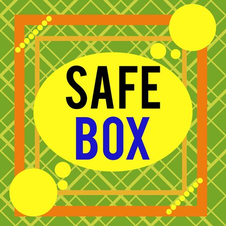 Word writing text Safe Box. Business photo showcasing A small structure where you can keep important or valuable things Asymmetrical uneven shaped format pattern object outline multicolour design