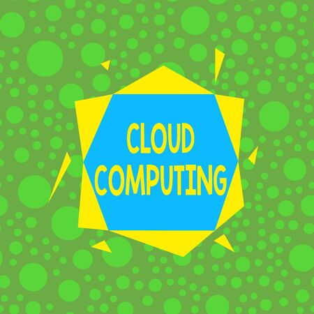 Handwriting text writing Cloud Computing. Conceptual photo storing and accessing data and programs over the Internet Asymmetrical uneven shaped format pattern object outline multicolour design