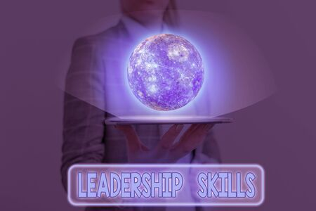 Word writing text Leadership Skills. Business photo showcasing Skills and qualities that leaders possess Taking a lead