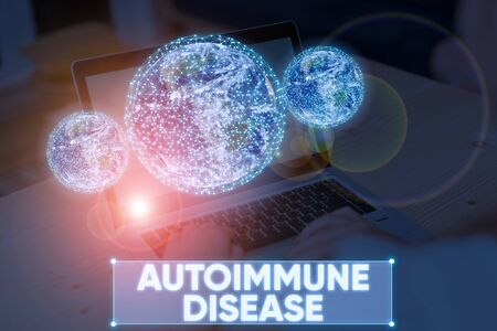 Word writing text Autoimmune Disease. Business photo showcasing body tissues are attacked by its own immune system