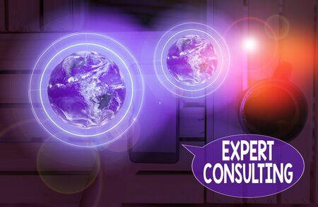 Signo de texto mostrando consultoría experta. Exhibición fotográfica de negocios que proporciona conocimiento experto a un tercero por una tarifa