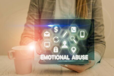Handwriting text Emotional Abuse. Conceptual photo demonstrating subjecting or exposing another demonstrate behavior