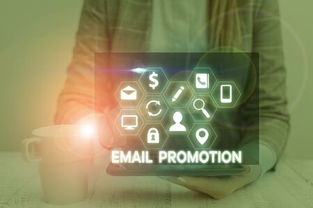 Handwriting text Email Promotion. Conceptual photo commercial broadcast which offers incentives to drive sales